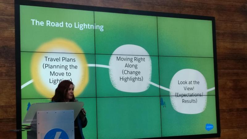 Lightningへの移行時の進め方を紹介しているLightning Theaterブース