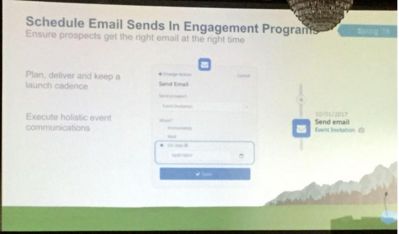 Engagement Studioメール送付日付の設定ができる