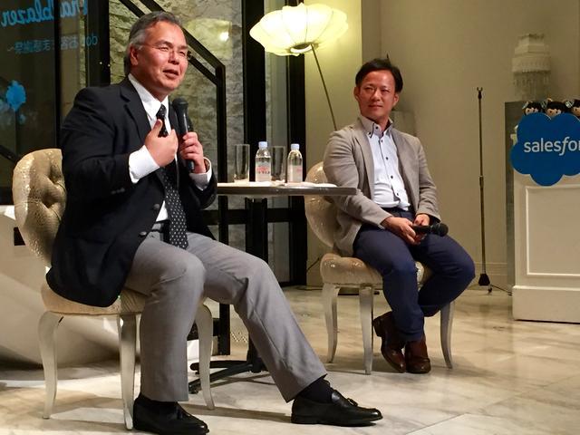 シンフォニーマーケティング代表取締役の庭山一郎氏が登壇